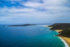 Zet Tomaree-Vooruitzicht, NSW, Australië op stock fotografie