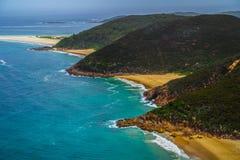 Zet Tomaree-Vooruitzicht, NSW, Australië op royalty-vrije stock foto