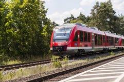 Zet treinrecht om Royalty-vrije Stock Foto's