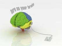 Zet uw hersenen aan royalty-vrije illustratie