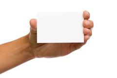 Zet uw tekst bij deze witte kaart Royalty-vrije Stock Foto's