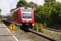 Zet verlaten trein om Royalty-vrije Stock Foto
