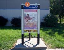 Zet Vernon Illinois Welcome Center Exhibit op stock foto