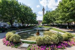 Zet Vernon Place Park in Baltimore, Maryland op royalty-vrije stock afbeelding