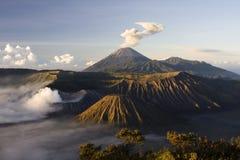 Zet vulkaan Bromo op Stock Afbeelding