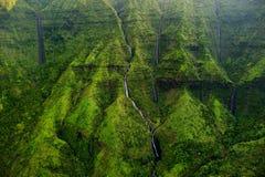 Zet Waialeale op als de natste vlek die ter wereld wordt bekend Stock Fotografie