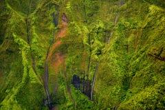 Zet Waialeale op als de natste vlek die ter wereld wordt bekend Stock Foto's