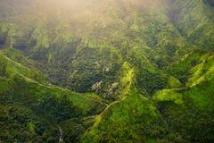 Zet Waialeale op als de natste vlek op Aarde, Kauai wordt bekend dat Stock Foto