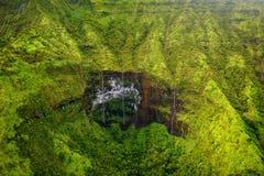 Zet Waialeale op als de natste vlek op Aarde, Kauai wordt bekend dat Royalty-vrije Stock Afbeelding
