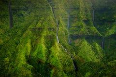 Zet Waialeale op als de natste vlek op Aarde, Kauai wordt bekend dat Stock Afbeelding