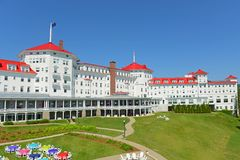 Zet Washington Hotel, New Hampshire, de V.S. op stock foto