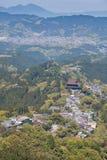Zet Yoshino en Yoshino-stad bij de prefectuur van Nara op royalty-vrije stock afbeelding