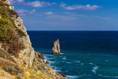 Zet zeil Yalta op Stock Foto