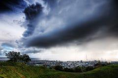 Zet zelfs de Donder Srorm van Auckland op Stock Foto
