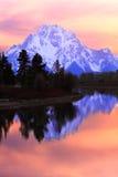 Zet Zonsondergang Moran op Stock Afbeeldingen