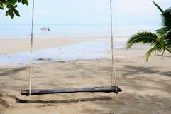 Zetel op het strand Stock Foto