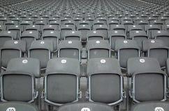 Zetels in Berlin Olympiastadion Royalty-vrije Stock Foto
