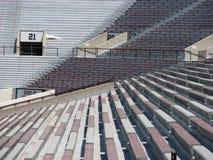 Zetels bij een stadion royalty-vrije stock afbeeldingen