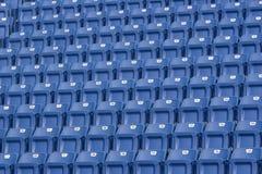 Zetels in een Stadion stock foto