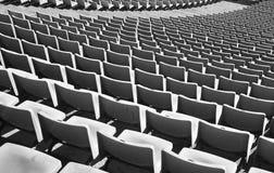 Zetels in een voetbalstadion Royalty-vrije Stock Foto's
