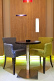 Zetels in koffiestaaf Royalty-vrije Stock Foto
