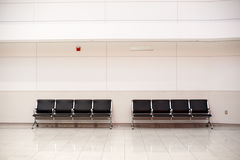 Zetels in luchthaven Royalty-vrije Stock Afbeeldingen