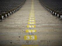 Zetels in Stadion van Barcelona royalty-vrije stock foto