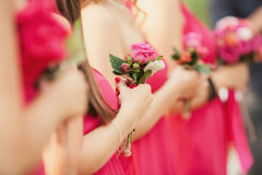 Zeugen an der Hochzeit Stockfoto