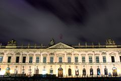 Zeughaus (old Arsenal) in Berlin by night Royalty Free Stock Photo