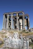 Zeus Świątynia, Aizanoi, Cavdarhisar, Kutahya, Turcja Zdjęcia Stock