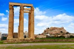 Zeus świątynia, Ateny, Grecja Fotografia Stock