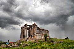Zeus świątynia w Aizanoi antycznym mieście obraz stock