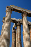 zeus ναών στυλοβατών της Αθήνα& Στοκ Εικόνα