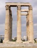 zeus ναών της Αθήνας Ελλάδα Στοκ φωτογραφία με δικαίωμα ελεύθερης χρήσης