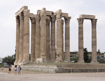zeus ναών της Αθήνας Ελλάδα Στοκ εικόνα με δικαίωμα ελεύθερης χρήσης