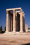 zeus ναών της Αθήνας Στοκ εικόνες με δικαίωμα ελεύθερης χρήσης