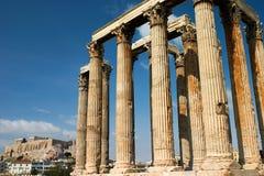 zeus ναών της Αθήνας Στοκ φωτογραφία με δικαίωμα ελεύθερης χρήσης