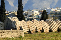 zeus ναών της Αθήνας στοκ εικόνες