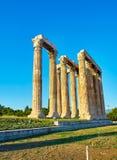 zeus виска олимпийца Афины, Attica, Греция Стоковые Изображения