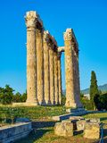 zeus виска олимпийца Афины, Attica, Греция Стоковые Фото