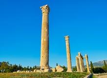 zeus виска олимпийца Афины, Attica, Греция Стоковое фото RF