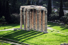 zeus виска олимпийца athens Греции Стоковые Фотографии RF