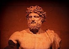 Zeus. The marble statue of Zeus Stock Image