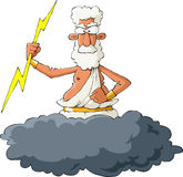Zeus. On a white background, vector Stock Image