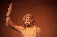 Zeus. The marble statue of Zeus Royalty Free Stock Photography