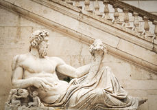 Zeus. Architectural detail of the Vittorio Emanuele Monument in Piazza Venezia, Rome, Ialy Stock Images