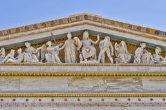 Zeus, Athena och andra gammalgrekiskagudar och gudar Royaltyfri Bild