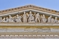 Zeus, Athena y otros dioses y deidades del griego clásico imagen de archivo libre de regalías