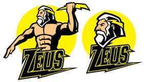 Zeus bóg maskotka royalty ilustracja