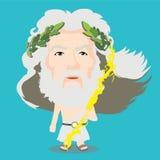 Zeus Character. Cute cartoon character of Zeus Stock Photography